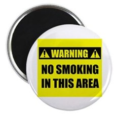 "WARNING: No Smoking 2.25"" Magnet (100 pack)"