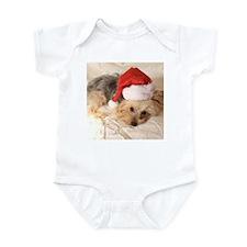 Santa Yorkie - Infant Bodysuit