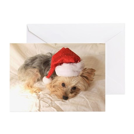 Santa Yorkie! Greeting Cards (Pk of 20)