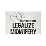 Legalize Midwifery Rectangle Magnet (10 pack)