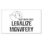 Legalize Midwifery Rectangle Sticker