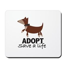 Funny Animal adoption Mousepad