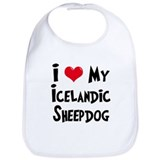 I Love My Icelandic Sheepdog Bib