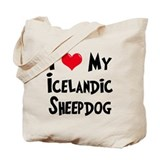 I Love My Icelandic Sheepdog Tote Bag