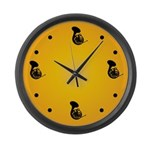 French Horn Silhouette Music Wall Clock Gift