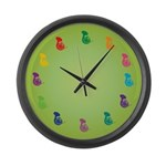 Lots Of French Horns Music Wall Clock Gift