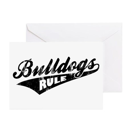 Bulldogs Rule Greeting Cards (Pk of 10)