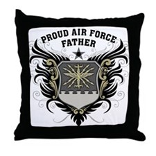 Proud Air Force Father Throw Pillow