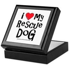 I Love My Rescue Dog Keepsake Box