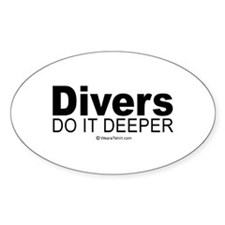 Divers do it deeper - Oval Stickers