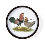 Russian Orloff Chickens Wall Clock