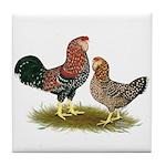Russian Orloff Chickens Tile Coaster