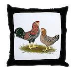 Russian Orloff Chickens Throw Pillow