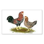 Russian Orloff Chickens Sticker (Rectangle)