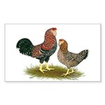 Russian Orloff Chickens Sticker (Rectangle 50 pk)