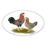 Russian Orloff Chickens Sticker (Oval 10 pk)