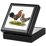 Russian Orloff Chickens Keepsake Box