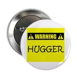 "WARNING: Hugger 2.25"" Button (100 pack)"