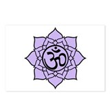 Purple Om Lotus Blossom Postcards (Package of 8)