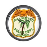 Palmetto Florida Police Wall Clock