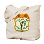 Palmetto Florida Police Tote Bag