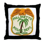 Palmetto Florida Police Throw Pillow