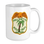 Palmetto Florida Police Large Mug