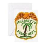 Palmetto Florida Police Greeting Cards (Pk of 20)
