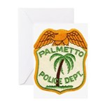 Palmetto Florida Police Greeting Card