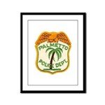 Palmetto Florida Police Framed Panel Print