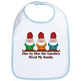 One by one the Gnomes steal my sanity Bib