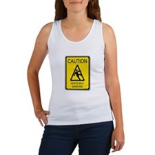 caution white boy dancing Women's Tank Top