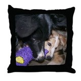 Weasel and Demon Puppy Throw Pillow
