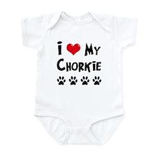 I Love My Chorkie Infant Bodysuit