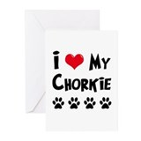 I Love My Chorkie Greeting Cards (Pk of 20)