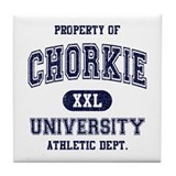 Chorkie University Tile Coaster