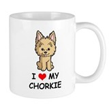 I Love My Chorkie Small Mug