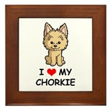 I Love My Chorkie Framed Tile