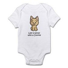 Life is better with a Chorkie Infant Bodysuit