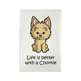 Life is better with a Chorkie Rectangle Magnet (10