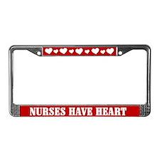 Nurses Have Heart License Plate Frame