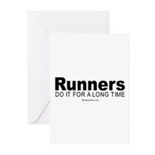 Runners keep it up for hours - Greeting Cards (Pa