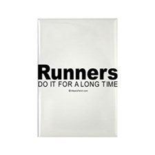 Runners keep it up for hours - Rectangle Magnet