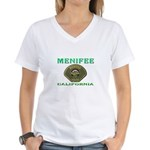 Menifee California Police Women's V-Neck T-Shirt