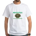 Menifee California Police White T-Shirt