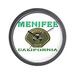 Menifee California Police Wall Clock