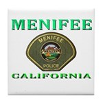 Menifee California Police Tile Coaster