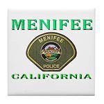 Menifee California Police Tile Coaster