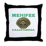Menifee California Police Throw Pillow
