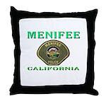 Menifee California Police Throw Pillow